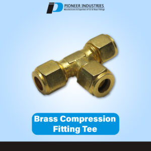 Brass Compression Fitting Tee
