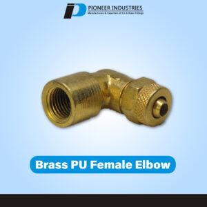 Brass PU Female Elbow