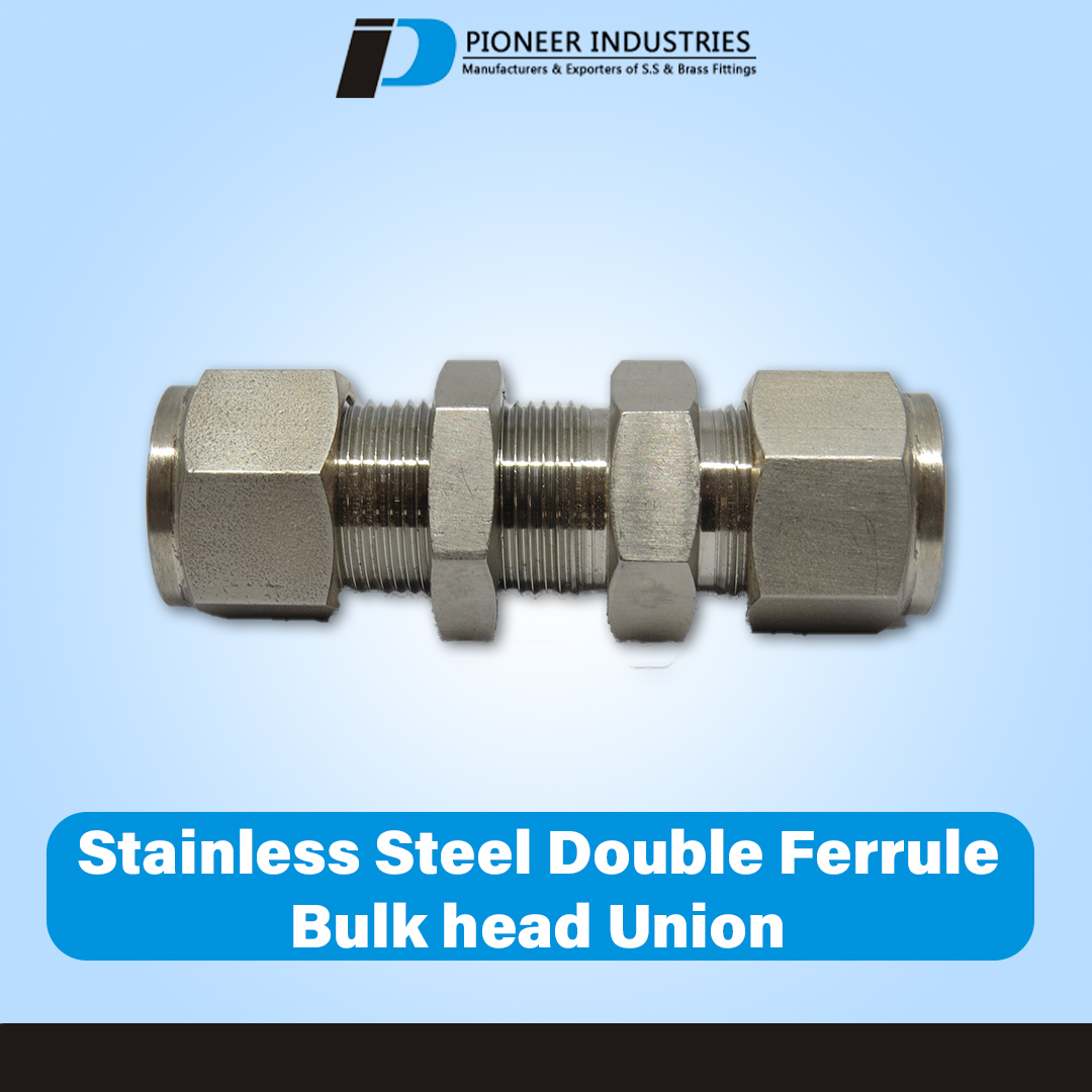 Stainless Steel Double Ferrule Female Bulkhead Union
