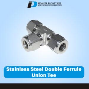 Stainless Steel Double Ferrule Union Tee
