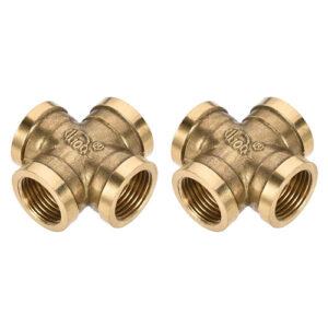 Brass 4 way Female fittings
