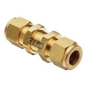 Brass Double Ferrule Bulkhead Male Connector