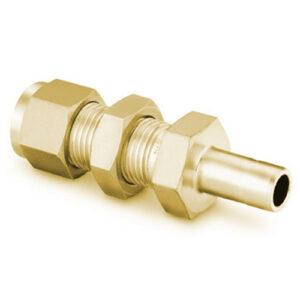 Brass Double Ferrule Bulkhead Reducer