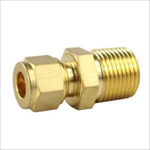 Brass Double Ferrule Male Adapter