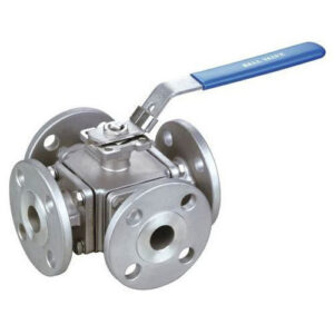 Stainless Steel 4-Way Ball Valve Female to Female