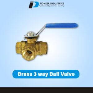 Brass 3 Way Ball Valve